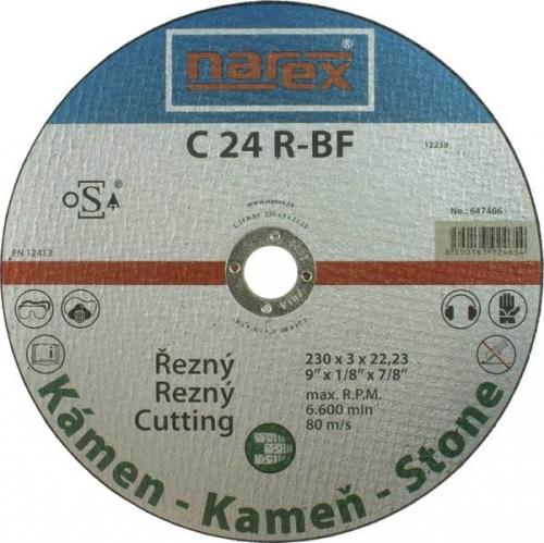 Výrobek Řezný kotouč na kámen rovný Narex 230 00647466