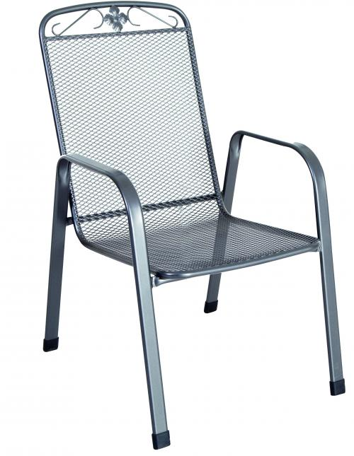 Výrobek MWH Savoy - stohovatelná židle z tahokovu, tmavě šedá 75 x 57 x 93 cm