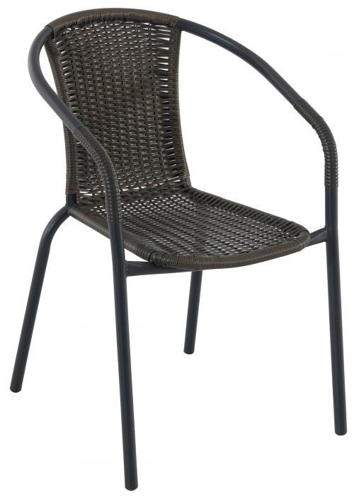 Výrobek Creador Pikolo - kovová stohovatelná židle s ratanem