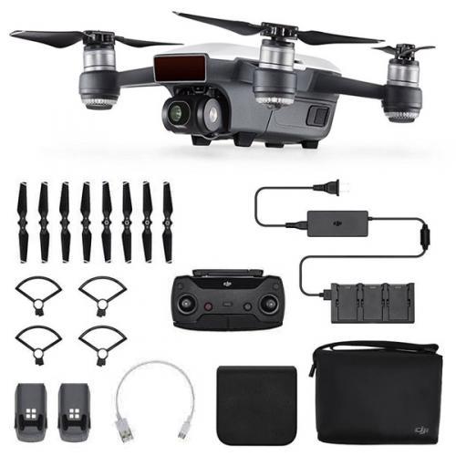Výrobek Dron DJI - Spark Fly More Combo včetně nabíječe, vysílače batohu atd. (Alpine White version)