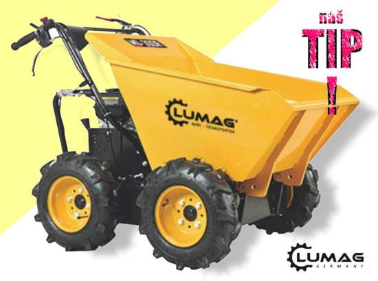 Výrobek Minidumper Lumag MD 300 R motorové kolečko s benzínovým motorem 4,1 kW, nosnost 300 kg + ZDARMA doprava !