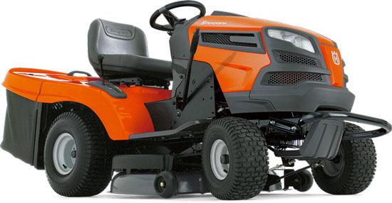 Zahradní traktor Husqvarna CTH 150 TWIN - použitý !!! (motor Kawasaki 16 HP 2-válec, zadní výhoz s košem)