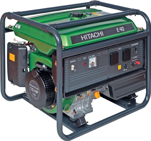 Generátor elektrocentrála Hitachi E 40 MA 230 V / 4000 W - AKCE - SLEVA + ZDARMA DOPRAVA !