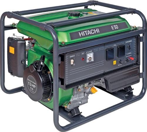 Výrobek Generátor (elektrocentrála) Hitachi E 50 MA 5000 W - AKCE - SLEVA + ZDARMA DOPRAVA !