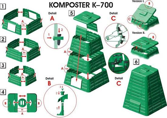 Zahradní plastový KOMPOSTÉR AL-KO K 700 + ZDARMA doprava !