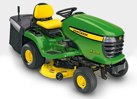Výrobek Zahradní (komunální) traktor John Deere X 305 R s košem (zadní výhoz)