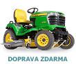 Komun�ln� traktor John Deere X 758 s diesel motorem Yanmar (bo�n� v�hoz tr�vy)