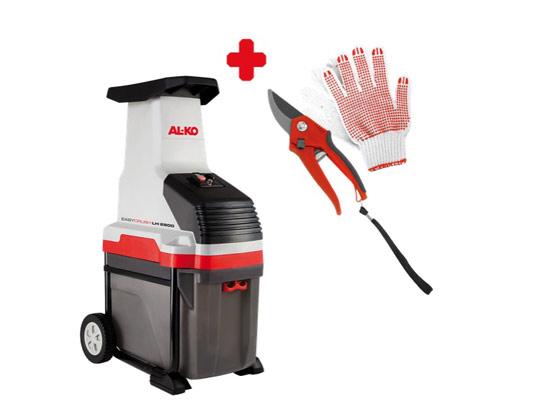 Drtič větví a zahradního odpadu / štěpkovač AL-KO Easy Crush LH 2800 ON PACK (ceně rukavice a nůžky na větve) + DOPRAVA ZDARMA !