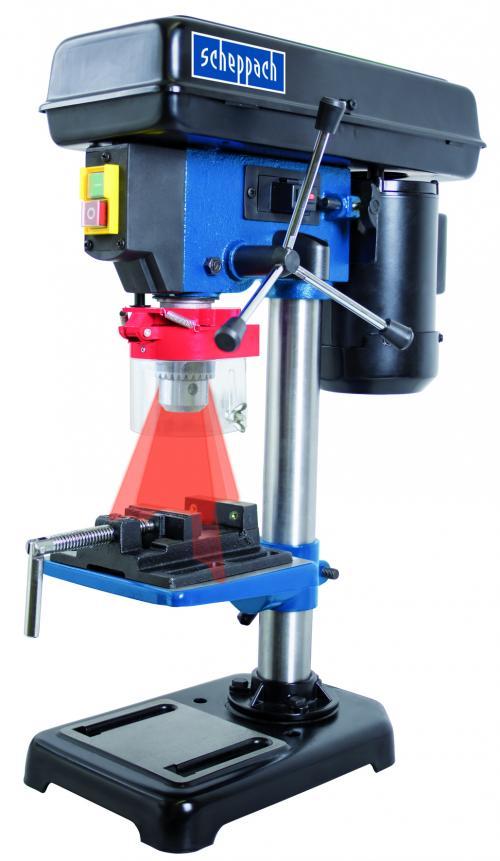 Výrobek Scheppach DP 16 VL - stojanová vrtačka s křížovým laserem - SLEVA + ZDARMA doprava !