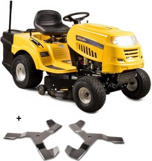 Zahradní traktor Riwall RLT 92 T Power Kit s 3-ramennými noži na vyšší trávu a košem (mechanická manuální převodovka) + ZDARMA nárazník nebo doprava !