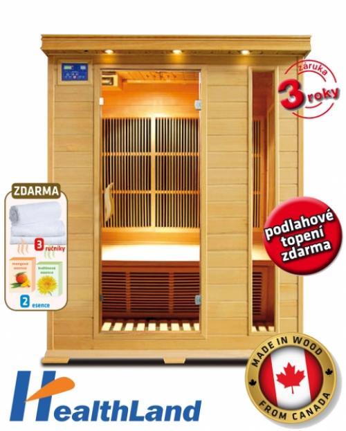 Výrobek INFRASAUNA Healthland V-Garden DeLUXE 3003 CARBON - SLEVA + BONUSY !