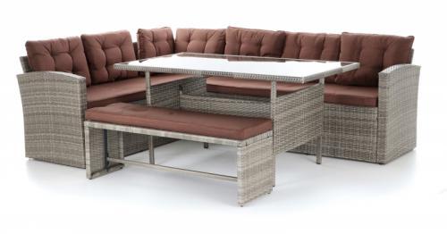Výrobek Luxusní zahradní stolová ratanová sestava VeGa TUNIS SET 6 (umělý ratan)