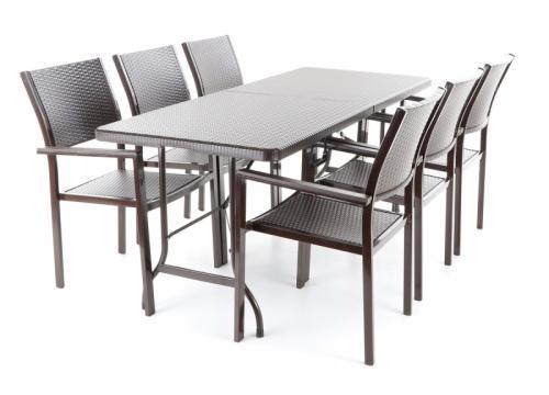 Výrobek Zahradní stolová sestava Vega ELBA set 6 (stůl a 6 židlí)