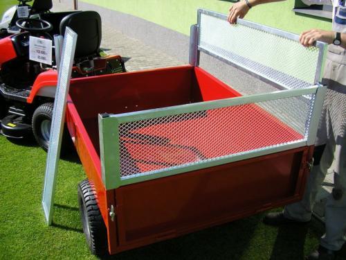Výrobek Nástavba VARES pro vozíky TR 350-7 a HV 350-7 (4x rohový profil a 4x lakovaná pevná bočnice s lisovaným výpletem)