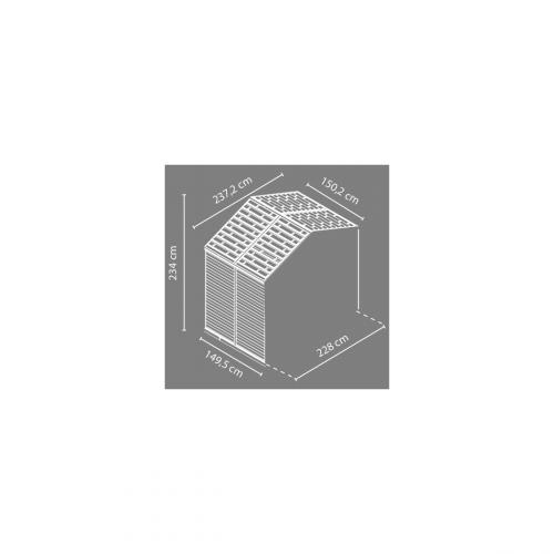 Výrobek Palram Rozšiřovací modul 8x4 pro domky série Skylight 8 (hnědý)