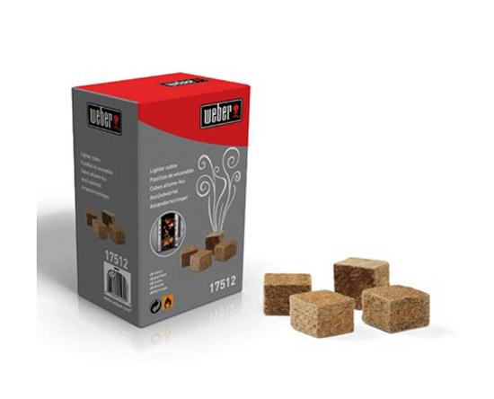 Výrobek Weber Podpalovací kostky hnědé - ekologické (v balení 80 ks) - AKCE - SLEVA !