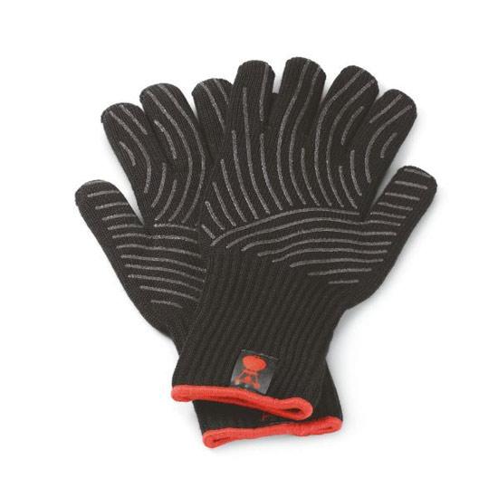 Výrobek Sada grilovacích rukavic Premium se silikonovou plochou (S/M), černé, pro teploty do 260° C - SLEVA !