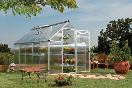 Výrobek Palram multiline 6x10 polykarbonátový skleník (1,85 m x 3,05 m PC 4 mm) - SKLADEM !