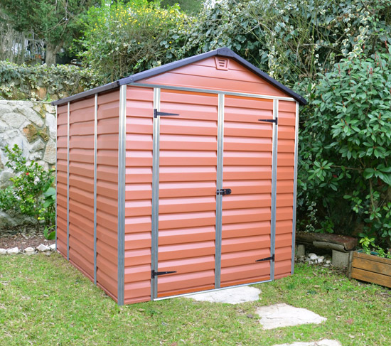 Výrobek Palram Skylight 6x8 hnědý - zahradní domek