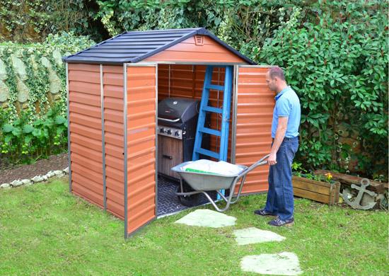 Výrobek Palram Skylight 6x5 hnědý - zahradní domek