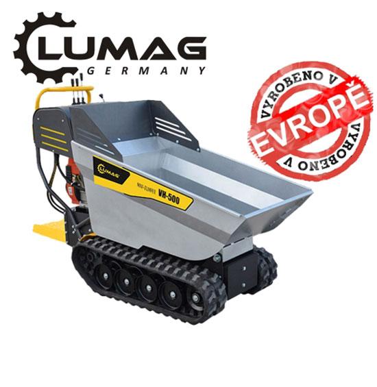 Výrobek Profi minidumper Lumag VH 500 plně hydraulický pásový dopravník s korbou a motorem 4,0 kW + ZDARMA doprava !