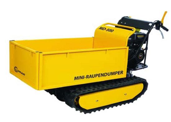 Výrobek Minidumper Lumag MD 500 pásový transportér (kolečko) s benzínovým motorem 4,1 kW, nosnost 500 kg + ZDARMA doprava !