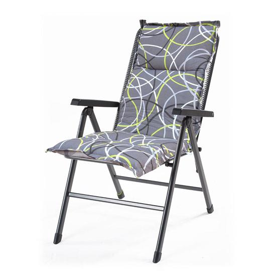 Výrobek Hartman grey oboustranný podsedák na zahradní židli 100 x 50 x 6 cm - polstr