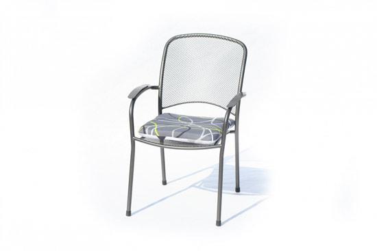 Výrobek Hartman grey oboustranný podsedák na židli 41,5 x 46 x 6 cm